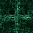 Digital abstract background,green blocks - Stock Photo