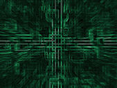 Digital abstract background,green blocks — Stock Photo