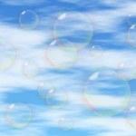 Soap-bubbles on the blue sky — Stock Photo