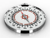 Compass isolated on white background — Stok fotoğraf