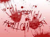 Foto de halloween. huellas sangrientas — Foto de Stock