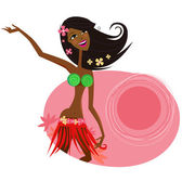 Hawaii hula girl dancer — Stock Vector