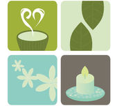 Wellness and relaxation icon pack — Stock Vector