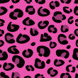 Seamless pink leopard texture pattern - Stock Vector