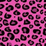 シームレスなピンクのヒョウのテクスチャ パターン — ストックベクタ