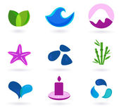 Wellness, relaxation and medical icons - — Stock Vector