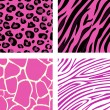 Fashion tiling pink animal print pattern — Stock Vector #3124107