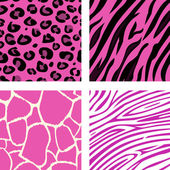 Fashion tiling pink animal print pattern — 图库矢量图片