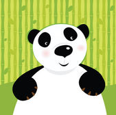 Black and white panda bear — Stock Vector