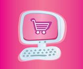 Shopping online VECTOR ICON — Stock Vector