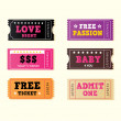 Love night tickets — Stock Vector