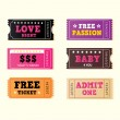 Love night tickets - Stock Vector