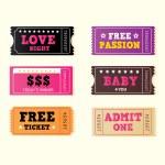 Love night tickets — Stock Vector