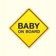 Stock Vector: Baby on board!