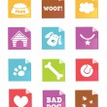 Dog icons - VECTOR — Stock Vector