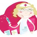 Hospital nurse — Stock Vector