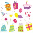 Stock Vector: Birthday party begin!
