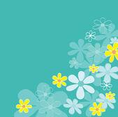 Blue retro flower texture — Stock Vector