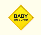Baby on board! — Stock Vector