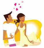 Zomer huwelijksreis in egypte — Stockvector