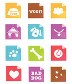 Dog icons - VECTOR — Stock Vector