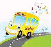 Yellow school bus — Vector de stock