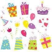 誕生日パーティーを始めましょう! — ストックベクタ
