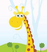 African Giraffe — Stock Vector