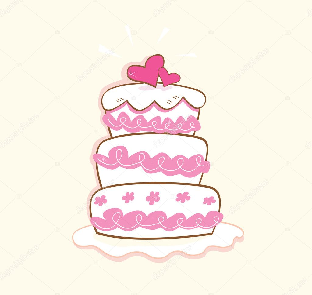 May be used on wedding, birthday, party or valentines occasion. Art vector illustration. — Stock Vector #3310572