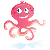 Sea octopus — Stock Vector