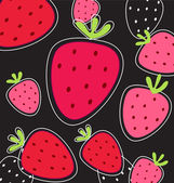 Vector abstract pink fruity strawberry background — Stock Vector