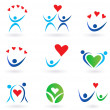 Love, relationship and community icons — Stock Vector #3424845