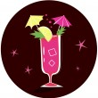 Royalty-Free Stock Vector Image: Retro-stylized cocktail illustration: Bloody Mary