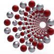 Red and silver spheres — Stock Photo