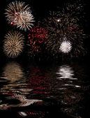 Ohňostroj květinové vody — Stock fotografie