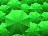 Green umbrellas — Stock Photo