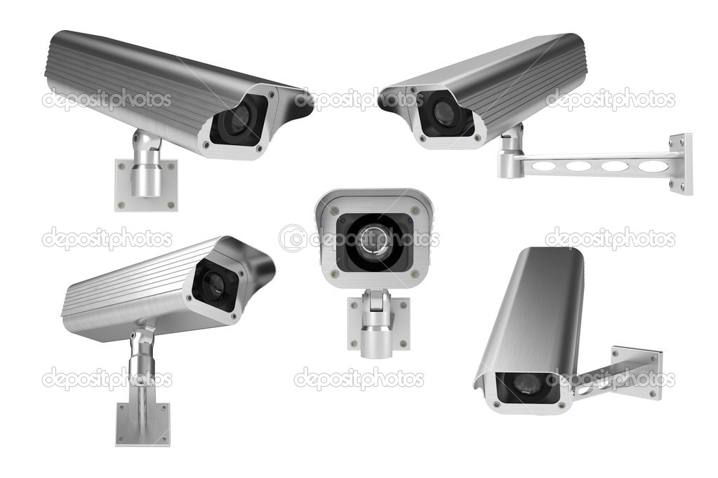 3d rendering of surveillance cameras on whitebackground — Stock Photo #3604014