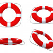 Red life belts - Stock Photo