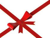 Czerwony dziób i wstążki — Zdjęcie stockowe