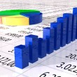 Royalty-Free Stock Photo: Spreadsheet with colorful graph