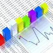 Foto de Stock  : Spreadsheet with colorful graph