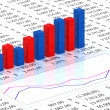 Spreadsheet with blue graph — Foto Stock #3667499