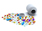 Colorful pills — Stock Photo