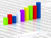 Transparent colorful graph bars — Stock Photo