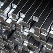 3d metal bars - Stock Photo