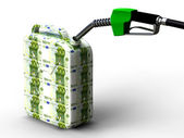 Eur gas can — Stock Photo