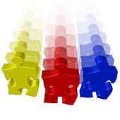 Puzzle verschieben team — Stockfoto