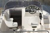 Motorbåt cockpit — Stockfoto