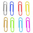 Stock Photo: Colorful paper clips