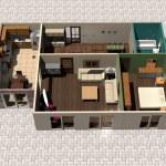 3D house plan — Stock Photo